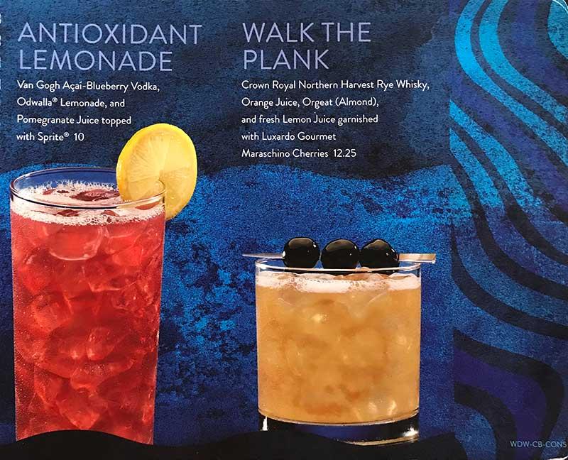 Walt Disney World's Generic Alcoholic Drink Menu