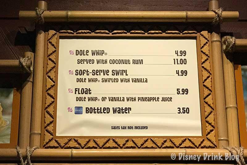 Disney's Polynesian Village Resort Pineapple Lanai Menu