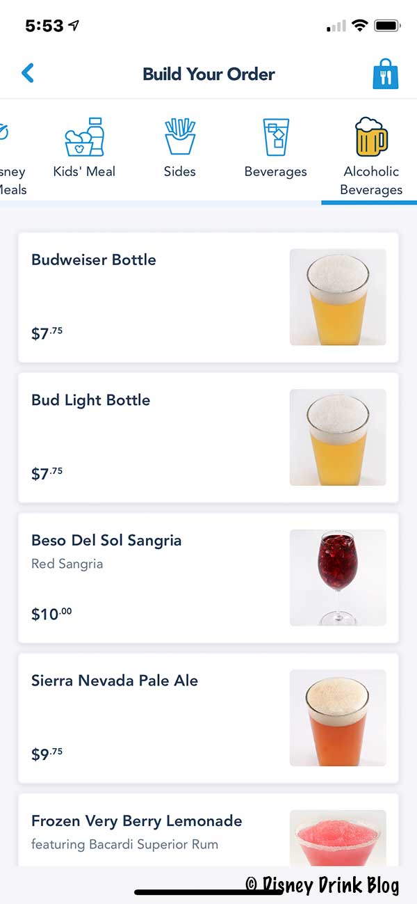Beat the Lines - Mobile Order Your Adult Drinks at Walt Disney World