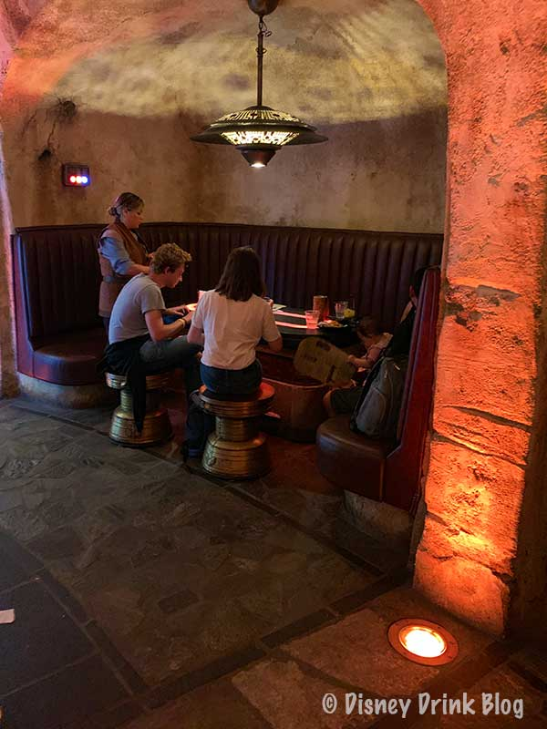 Oga's Cantina Review Booth Seating