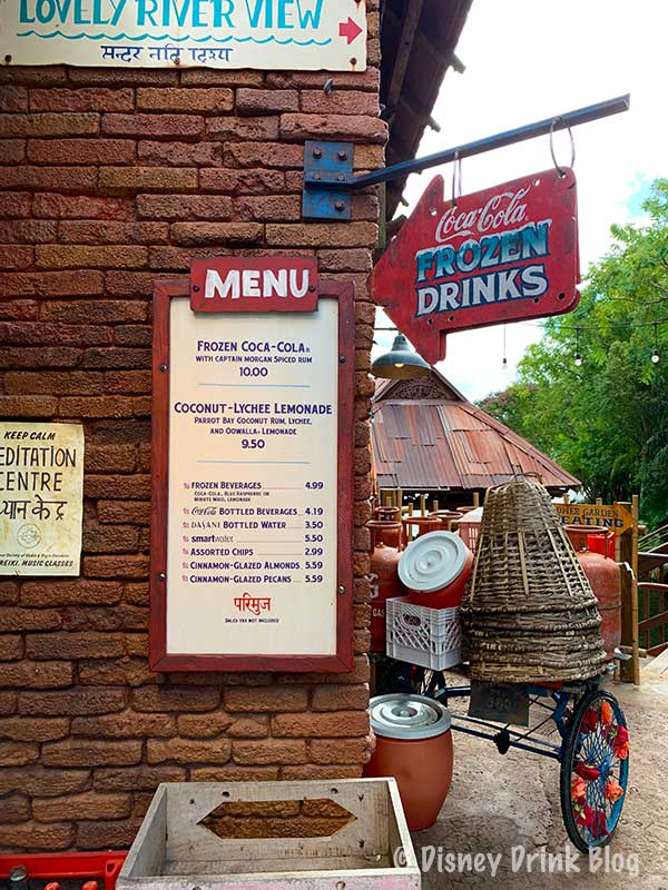 Disney Animal Kingdom Drinkwallah Review Menu